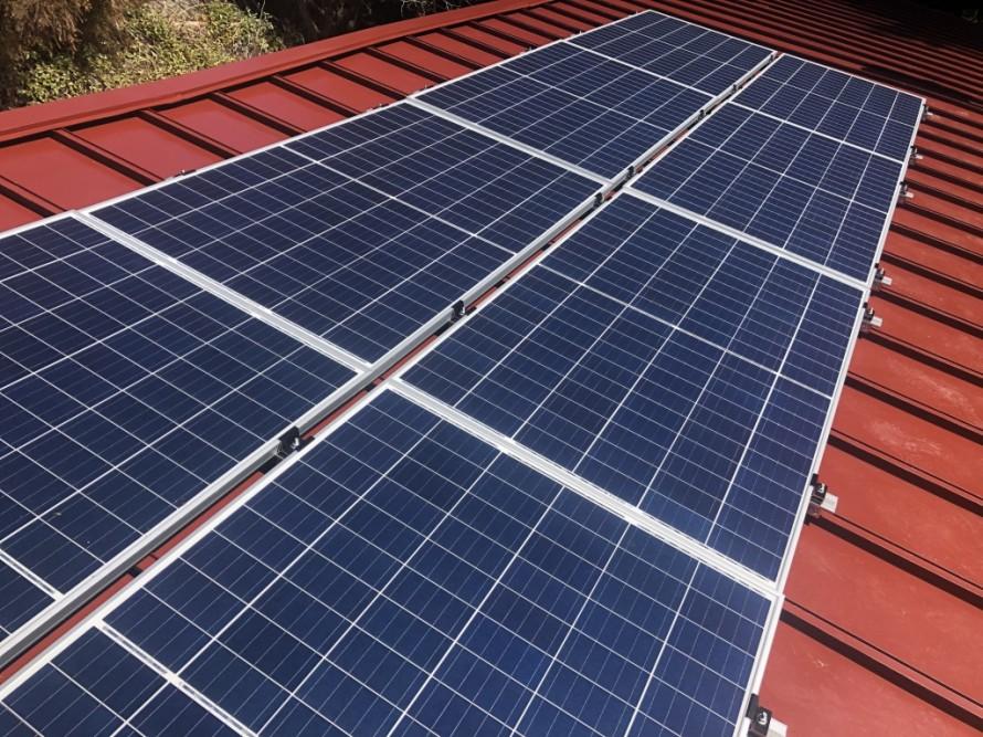 飯田市 太陽光発電システム 施工写真