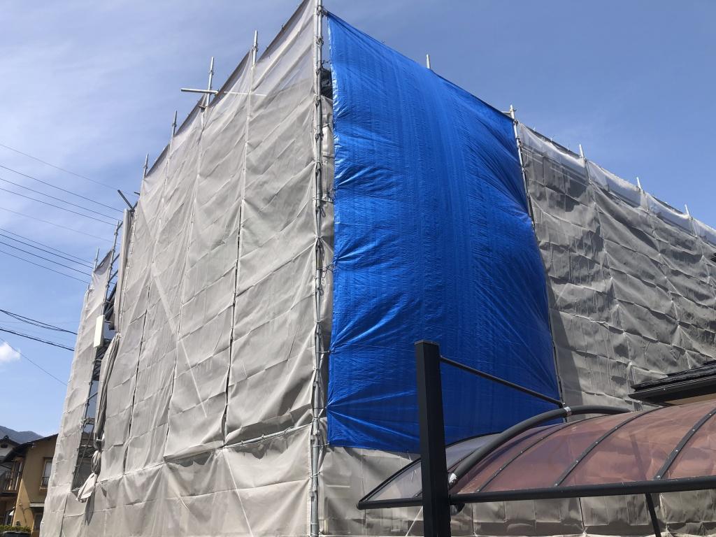 飯田市 塗装工事 飛散防止対応