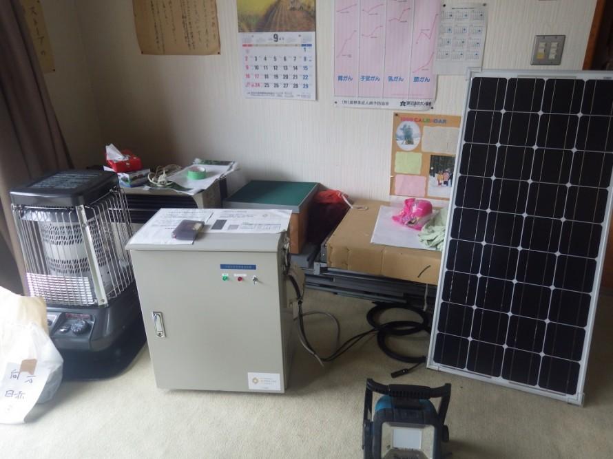 移動型太陽光非常用電源装置